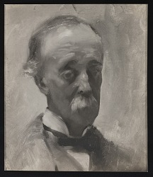 Reproduction of portrait of F.W. Sargent painted by John Singer Sargent