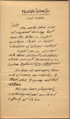 Rudolph Schaeffer papers, 1880s-1997