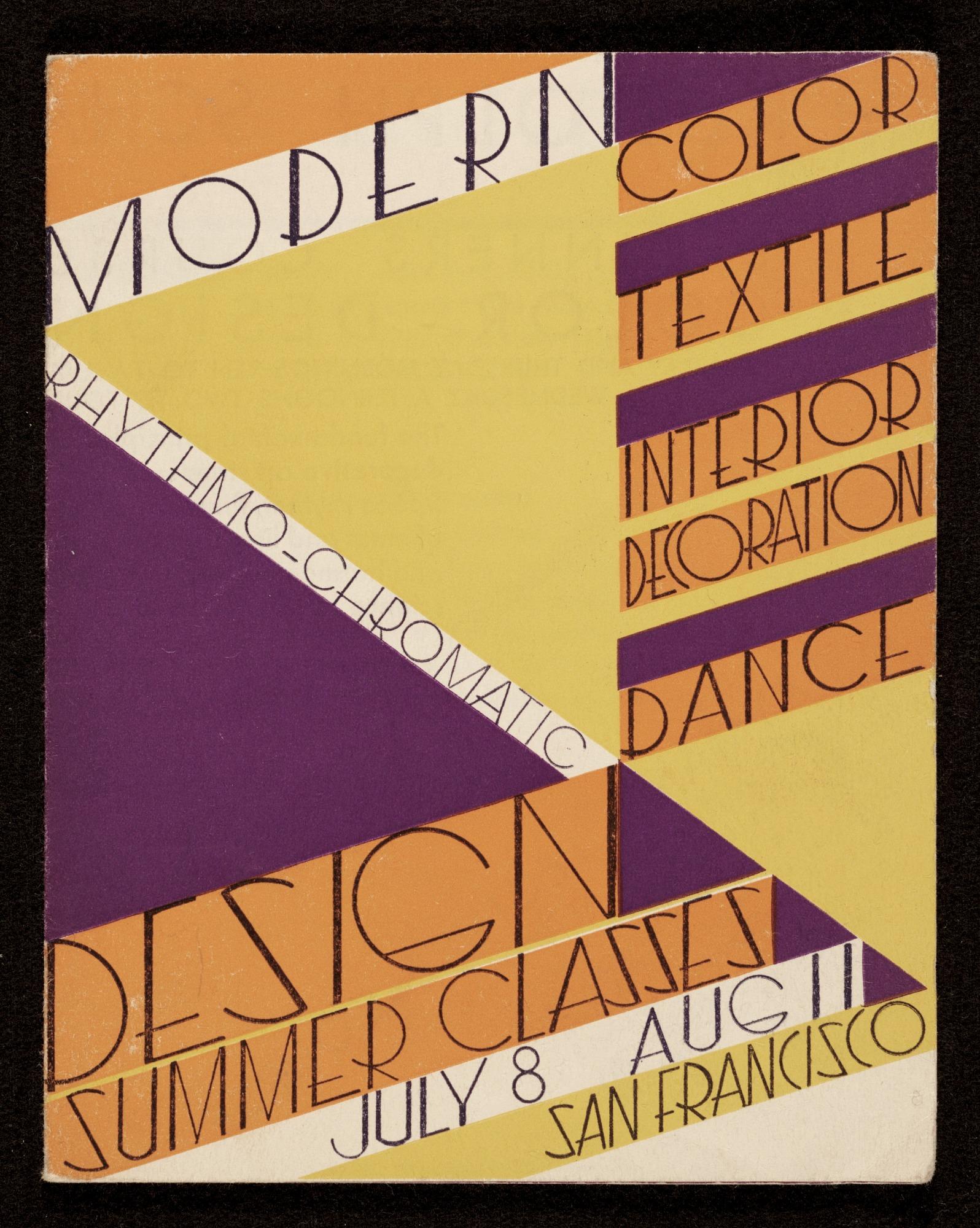 Modern Rhythmo Chromatic Design Summer Classes Catalog Smithsonian