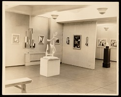 Installation view of the American Abstract Artists' first exhibition