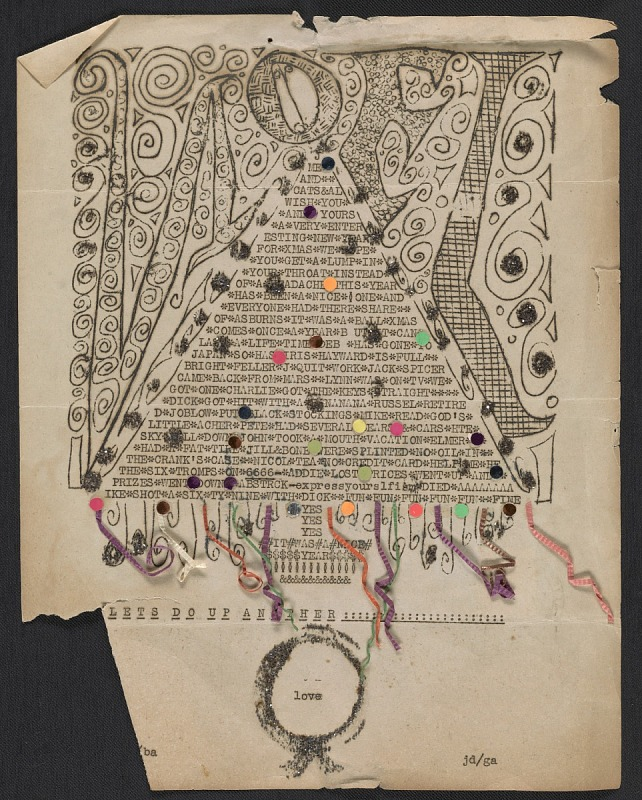 Resources :: A Christmas card from Jay DeFeo to Nell Sinton ...