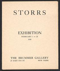 Storrs exhibition
