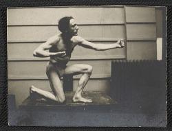 Artists' model posing