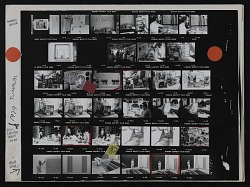 Contact sheet with images of Andrew Hudson, William Christenberry, and Gene Davis