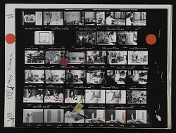 Contact sheet with images of Andrew Hudson, Bill Christenberry, and Gene Davis