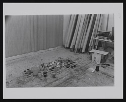 Photograph of Gene Davis' studio