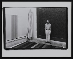 Photograph of Gene Davis in his studio