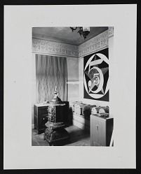 Photograph of Robert Indiana's studio