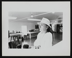 Portrait of Robert Indiana in studio