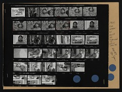 Contact sheet with images of Tom Green at house in Cabin John, Maryland