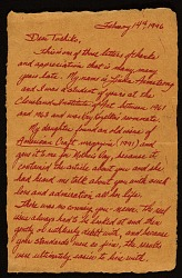 Linda Armstrong letter to Toshiko Takaezu