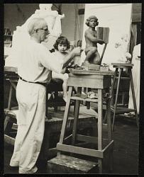 Adolph Weinman at work