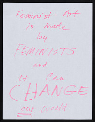 "Maren Hassinger response to ""What is Feminist Art?"""