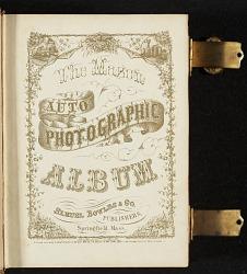 Photograph album of nineteenth century artists