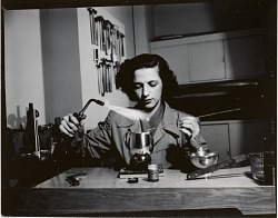 Margret Withers at work