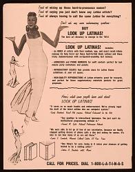 """Look up Latinas"" satiricial artwork from Heresies magazine"