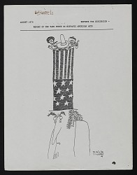 Cartoon from August 1979 Report of the Task Force on Hispanic American Arts