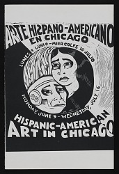 Exhibition program for Hispanic-American Art in Chicago at the Chicago State University Gallery