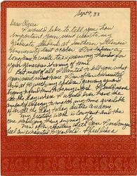 Joan Lintault letter to Claire Zeisler