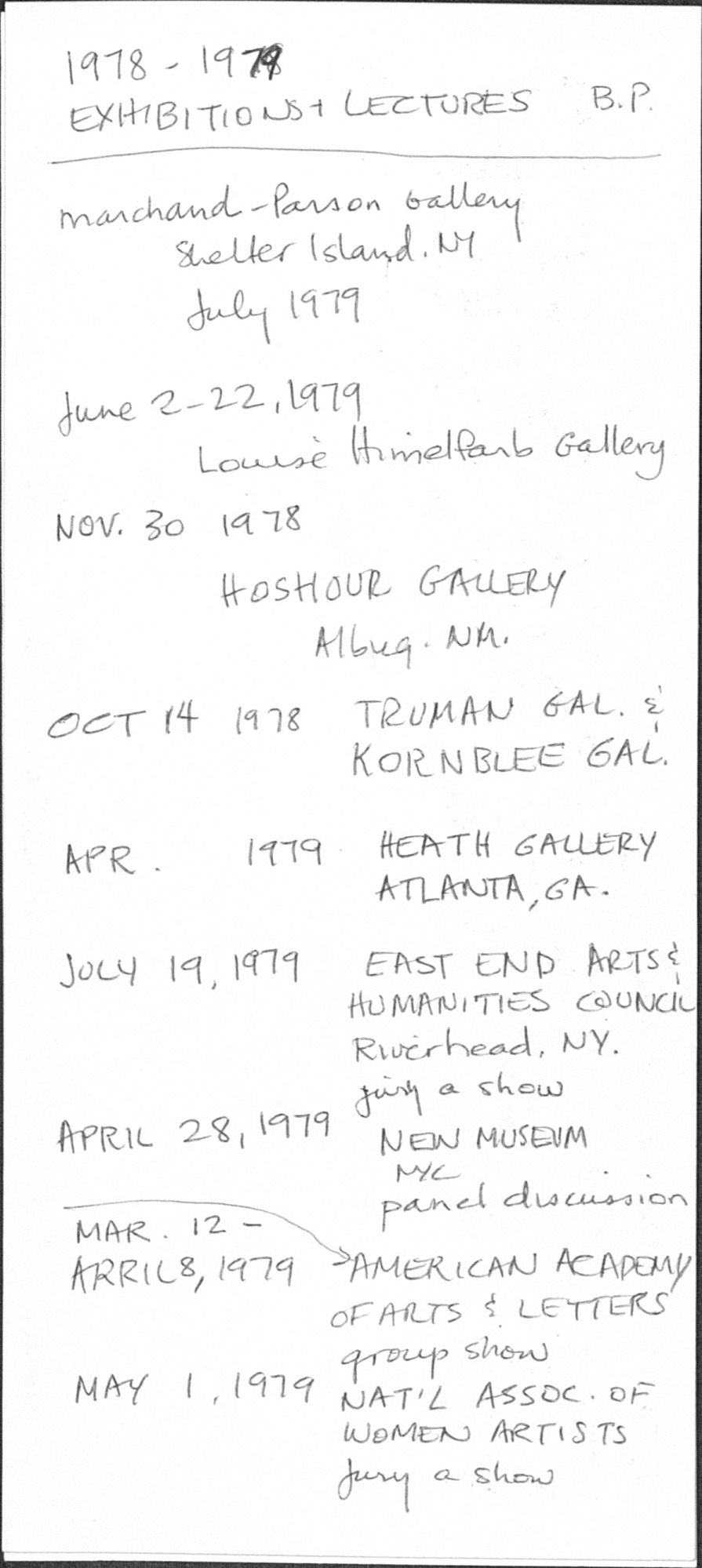 General Exhibitions