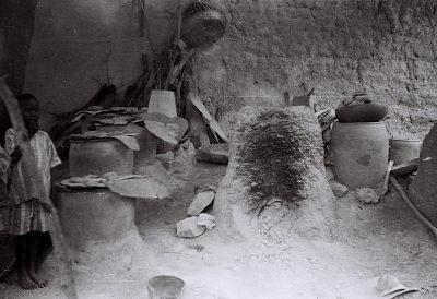 Field Work in Ibadan, Western Region (Nigeria): Large Indigo Dye Pots Used by Yoruba Women to Create Adire Clothes