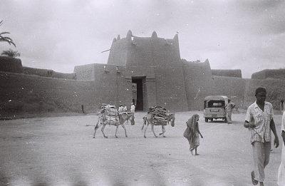 Field Work in Kano, Northern Region (Nigeria): Northern Wall of the Emir's Palace with 15th Century Kofar Fatalwa Gate