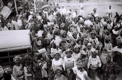 Field Work in Ondo, Western Region (Nigeria): Second Burial Ceremony of the Sashere (Ruler) of Ondo: Women of the Family Marching Together