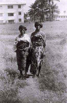 Field Work in Ibadan, Western Region (Nigeria): Two Elderly Women (probably Yoruba Informants)
