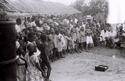 Field Work in Big Qua Town, Calabar, Eastern Region (Nigeria): Audience Watching Wire Recording Session of a Traditional Music Band