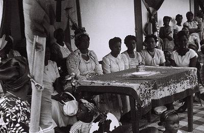 Field Work in Big Qua Town, Calabar, Eastern Region (Nigeria): Wedding Ceremony among the Qua Clan, the Bride Surrounded by Women Relatives