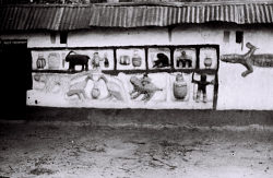 Field Work in Abomey, Benin (formerly, Dahomey): Mural Painting and Decoration Depicting Households, Animal and Human Figures