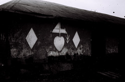 Field Work in Benin (formerly, Dahomey) and Togo: Traditional House with Mural Painting and Decoration