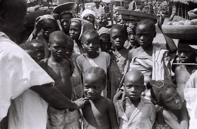 Field Work in Ilorin, Northern Region (Nigeria): Children at Marketplace