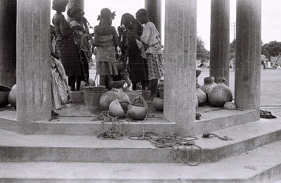 Field Work in Ilorin, Northern Region (Nigeria): Women with Calabashes at Town Well
