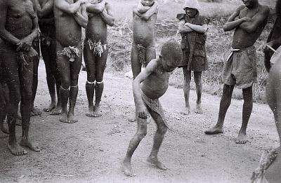 Field Work on the Benue Plateau, Northern Region (Nigeria): Irigwe or Rukuba Child Dancing