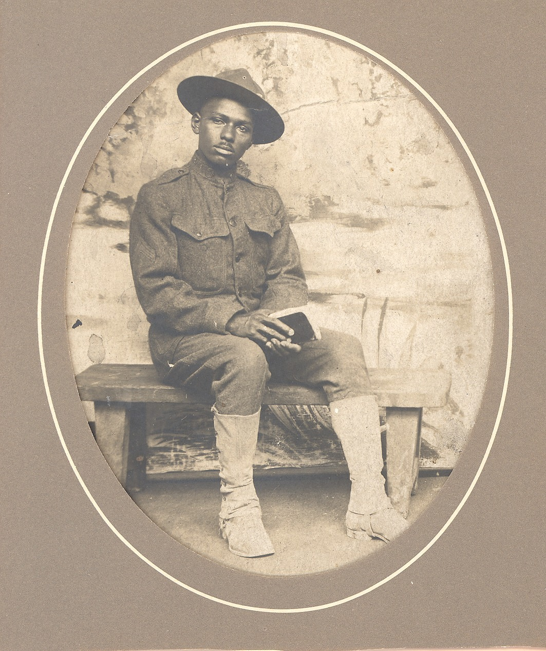 images for Portrait of J.W. (James William) Lucus in Jussey, France during World War I