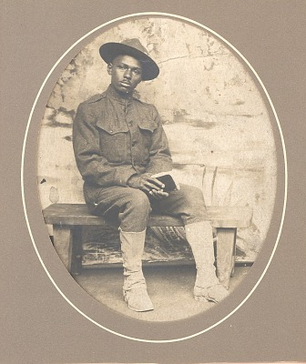 Portrait of J.W. (James William) Lucus in Jussey, France during World War I