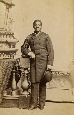 Full-length portrait of African American man