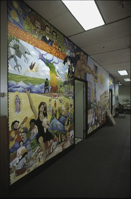 Mural inside the Executive Office of the Mayor: Office on Latino Affairs