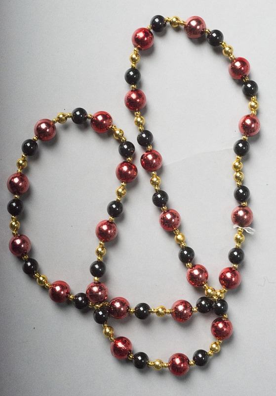 Image for Mardi Gras beads (red,gold, black)
