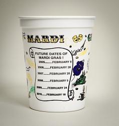 """""""Happy"""" Mardi Gras cup"""
