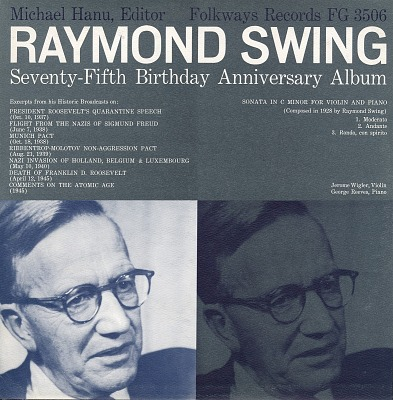 Raymond Swing [sound recording] : seventy-fifth anniversary album / Michael Hanu, editor