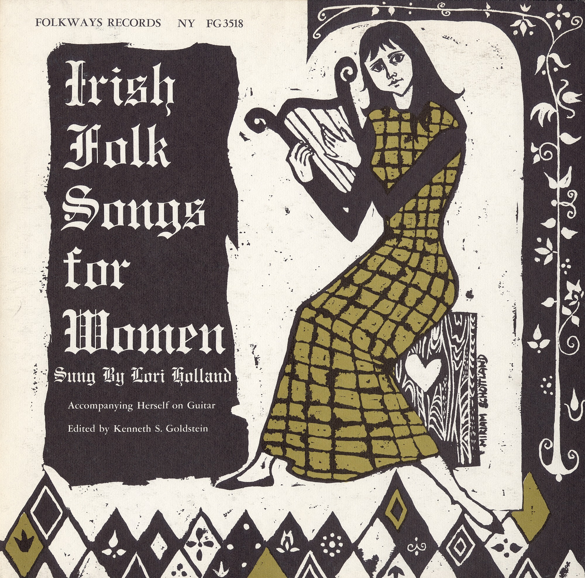 Image 1 for Irish folk songs for women sound recording / sung by Lori Holland ; edited by Kenneth S. Goldstein