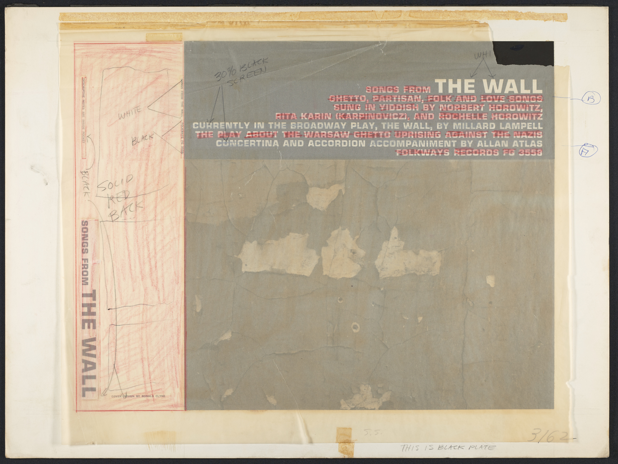 Songs from The Wall sound recording : ghetto, partisan, folk and love songs / sung by Norbert Horowitz, Rita Karin, Rochelle Horowitz