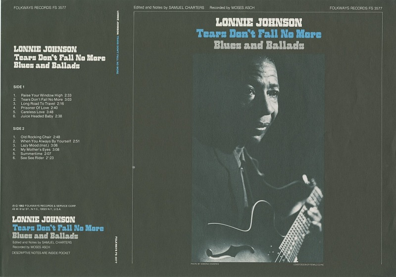 Image 1 for Tears don't fall no more sound recording : blues and ballads / Lonnie Johnson