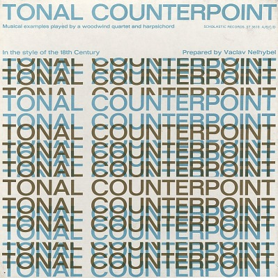 Tonal counterpoint in the style of the 18th century [sound recording] : Musical examples played by a woodwind quartet and harpsichord / prepared by Vaclav Nelhybel