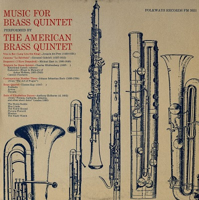 Music for brass quintet [sound recording] / performed by the American Brass Quintet