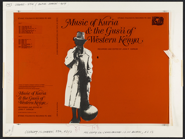 Image 1 for Music of Kuria and the Gusii of western Kenya sound recording / ecorded and edited by John P. Varnum