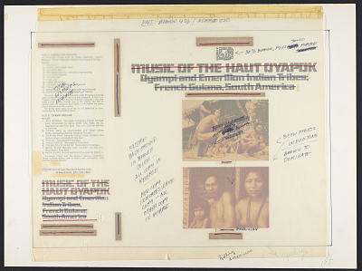 Music of the Haut Oyapok [sound recording] : Oyampi and Emerillon Indian tribes; French Guiana, South America / recorded and annotated by David Blair Stiffler