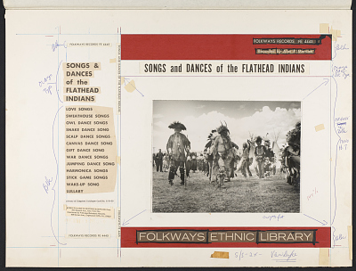 Songs and dances of the Flathead Indians [sound recording] / recorded by Alan P. and Barbara W. Merriam